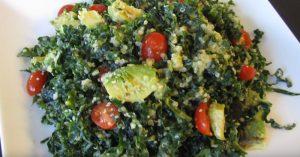 Kale Salad With Citrus Avocado Dressing