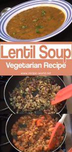 Lentil Soup - Vegetarian Recipe