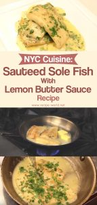 NYC Sauteed Sole Fish With Lemon Butter Sauce