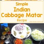 Simple Indian Cabbage Matar Recipe