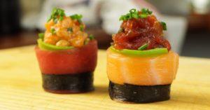 Spicy Tuna Salmon Sushi Roll