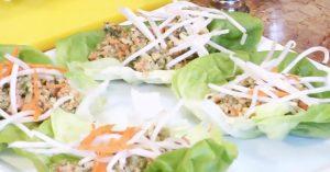 Thai Lettuce Wraps - Raw Food Recipe