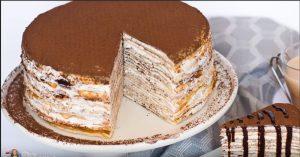 Tiramisu Crepe Cake