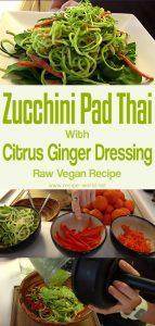 Zucchini Pad Thai With Citrus Ginger Dressing - Raw Vegan Recipe