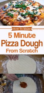 5 Minute Pizza Dough From Scratch