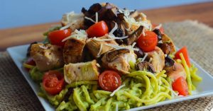 Chicken Avocado Pasta Recipe For Fat Loss & Hardgainer