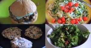 Healthy Vegetarian Dinner Recipes - Kale Salad, Burgers, Pasta