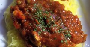 Vegetable Garden Spaghetti Recipe Made With Spaghetti Squash