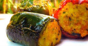 Indian Stuffed Bell Peppers - Vegan Vegetarian Recipe