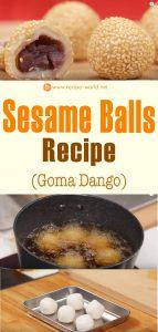 Sesame Balls Recipe (Goma Dango)
