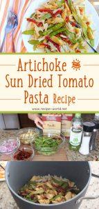 Artichoke & Sun Dried Tomato Pasta Recipe