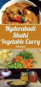 Hyderabadi Shahi Vegetable Curry Recipe