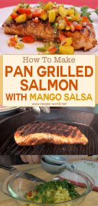 Pan Grilled Salmon With Mango Salsa