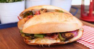 Philly Mushroom Melt Recipe - Vegetarian BBQ