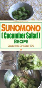 Sunomono (Cucumber Salad) Recipe - Japanese Cooking 101