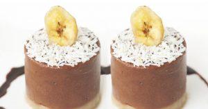 Vegan Banana Chocolate Ice Cream Cake - Low-Calorie, Dairy-Free