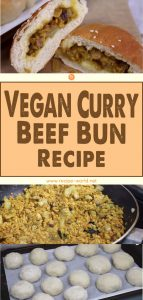 Vegan Curry Beef Bun Recipe