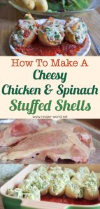 Cheesy Chicken & Spinach Stuffed Shells