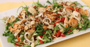 Grilled Shrimp & Calamari Salad - Laura Vitale