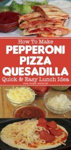 Pepperoni Pizza Quesadilla Recipe - Quick & Easy Lunch Idea