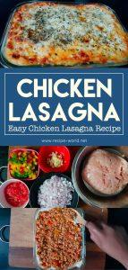 Chicken Lasagna - Chicken Lasagna Recipe - Easy Chicken Lasagna Recipe