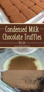 Condensed Milk Chocolate Truffles Recipe
