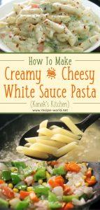Creamy & Cheesy White Sauce Pasta (Kanak's Kitchen)