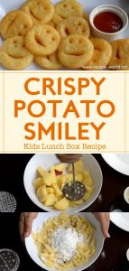Crispy Potato Smiley Kids Lunch Box Recipe