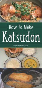 How To Make Katsudon