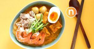 Malaysian Curry Noodles With Coconut Milk, Nyonya Laksa, Laksa Lemak