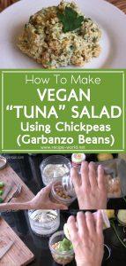 Vegan Tuna Salad Using Chickpeas (Garbanzo Beans)