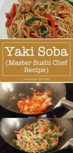 Yaki Soba Master Sushi Chef Recipe