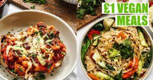 £1 Easy Vegan Student Meals