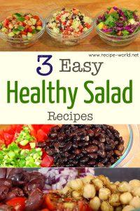 3 Easy Healthy Salad Recipes