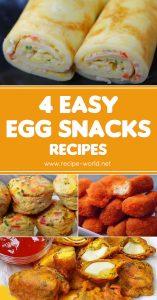 4 Easy Egg Snacks Recipes