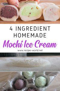 4 Ingredient Homemade Mochi Ice Cream