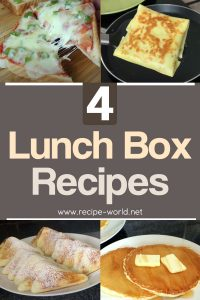 4 Lunch Box Recipes - Lunch Box Ideas