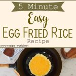 5 Minute EASY Egg Fried Rice