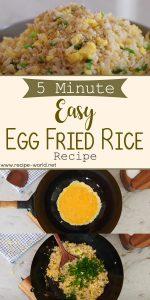 5 Minute EASY Egg Fried Rice