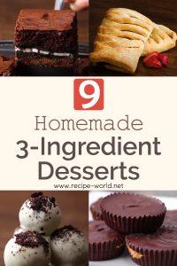 9 Easy 3-Ingredient Desserts