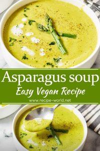 Asparagus Soup - Easy Vegan Recipe