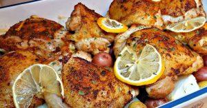 Baked Lemon Garlic Chicken Recipe