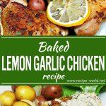 Baked Lemon Garlic Chicken Recipe | Lemon Garlic Cream Sauce Recipe