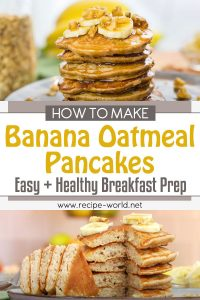 Banana Oatmeal Pancakes - Easy + Healthy Breakfast Meal Prep