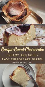 Basque Burnt Cheesecake Recipe