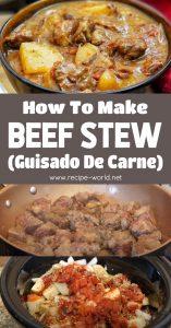 Beef Stew - Beef Stew Slow Cooker - Guisado De Carne