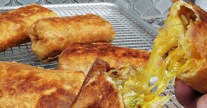 Chicken And Cheese Chimichangas - How To Make Chimichangas