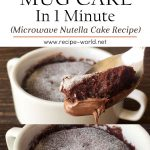 Chocolate Mug Cake In 1 Minute | Microwave Nutella Cake