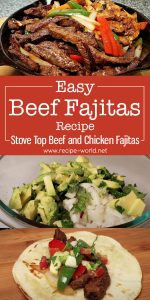 Easy Beef Fajitas Recipe - Stove Top Beef and Chicken Fajitas