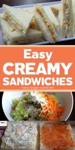 Easy Creamy Sandwiches - Lunch Box Recipe